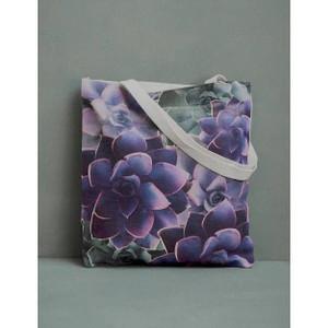 Purple Succulent Tote