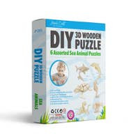 DIY Wooden Puzzles (6) Sea Animals