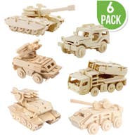 DIY Wooden Puzzles (6) Military Vehicles