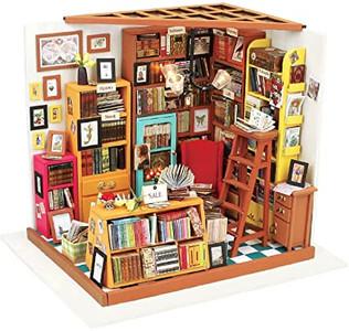 DIY Miniature Dollhouse Kit Sam's Study Room
