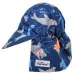 UPF50+ Original Flap Hat Shark Doodles XS