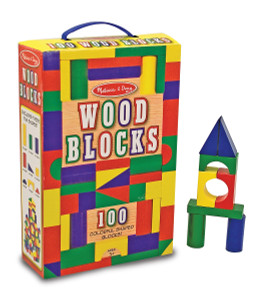 Melissa and Doug 100 pc Painted Wooden Block Set