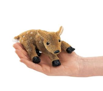 Mini Fawn Finger Puppet-Reclining