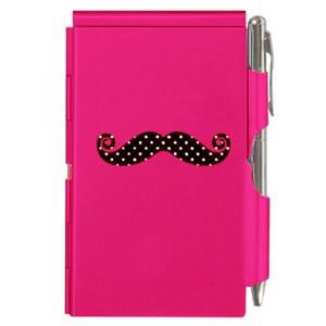 Flip Note- Mustache