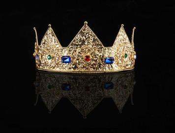 Elope Ladies Pointed Gold Crown