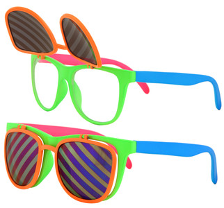 Elope Flip Ups Glasses- Neon
