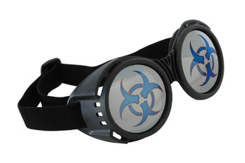 Elope Biohazard Goggles- black with mirror