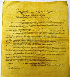 Bill of Rights- Replica Parchment