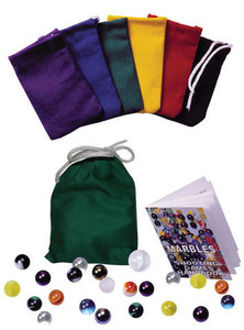 Marbles With Color Canvas Pouch
