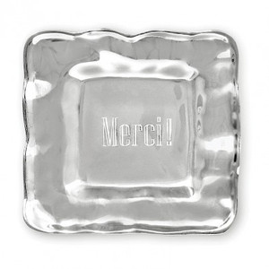 MERCI! Square Engraved Tray