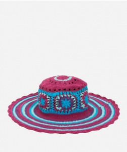 Kid's Crochet Macrame Hat with Stripe Pattern