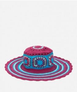 Kid's Crochet Macrame Hat with Stripe Pattern