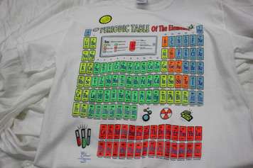 Periodic Table Adult T Shirt Glo