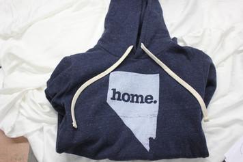 Adult Nevada Home Hoodie Blue