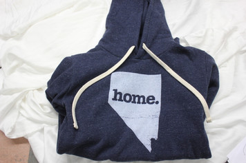 Nevada Tri- Blend Home Hoodle Large Blue