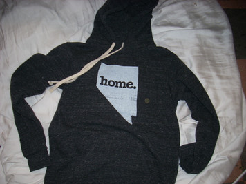 Adult Nevada Home Tri-Blend Hoodie Dark Gray Small
