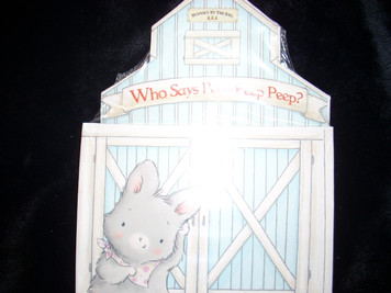 What Goes Peep Peep?  Board Book with a Barn