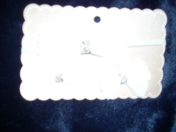 Headband and Hair Clips Whit and Gold