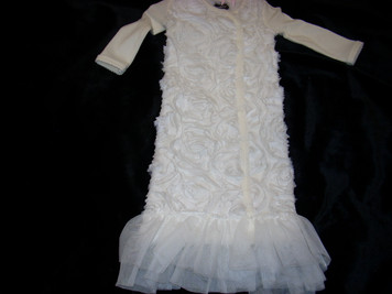 Ivory Rosette Newborn Gown 0-3 mo