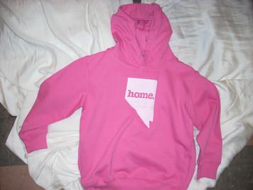 Girl's Pink Nevada Home Hoodie 5/6