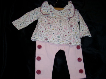 Pink Forest 2 Piece Set 3-6 mo