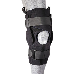 Hybrid Knee Brace Open Patella Covered Hing