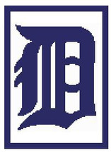 "Detroit Tigers Logo Crochet Graph Afghan Pattern.  All done in single crochet, changing colors as you go along.  Drop one color, pull in the next.  Medium ability.  Size works up to be approx. 50 x 70"".  Graph is 100 stitches wide by 140 stitches high.  Then you crochet 22 rows (or more) around the outside edge including a border, if you would like it larger.  Complete instructions are included, a full size graph, and a Helpful Hints page. DOWNLOAD WILL BE EMAILED TO YOU WITHIN 20 MINUTES OF ORDER COMPLETION."