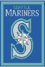 "Seattle Mariners Logo Crochet Graph Afghan Pattern.  All done in single crochet, changing colors as you go along.  Drop one color, pull in the next.  Medium ability.  Size works up to be approx. 50 x 70"".  Graph is 100 stitches wide by 147 stitches high.  Then you crochet 22 rows (or more) around the outside edge including a border, if you would like it larger.  Complete instructions are included, a full size graph, and a Helpful Hints page. DOWNLOAD WILL BE EMAILED TO YOU WITHIN 20 MINUTES OF ORDER. JUST CLICK ""DOWNLOAD FILES"".  If you rather have it mailed to you, email me.  Enjoy!"