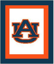 "Auburn University Logo Crochet Graph Afghan Pattern.  All done in single crochet, changing colors as you go along.  Drop one color, pull in the next.  Medium ability.  Size works up to be approx. 50 x 70"".  Graph is 100 stitches wide by 140 stitches high.  Then you crochet 22 rows (or more) around the outside edge including a border, if you would like it larger.  Complete instructions are included, a full size graph, and a Helpful Hints page. DOWNLOADABLE WITH PAYMENT CONFIRMATION OR EMAIL ME IF YOU'D RATHER HAVE IT MAILED."