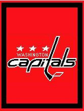"""Washington Capitals Hockey Logo Crochet Graph Afghan Pattern.  All done in single crochet, changing colors as you go along.  Drop one color, pull in the next.  Medium ability.  Size works up to be approx. 50 x 70"""".  Graph is 147 stitches wide by 187 stitches high.  Then you crochet 22 rows around the outside edge including a border, if you would like it larger.  Complete instructions are included, a full size graph, and a Helpful Hints page. DOWNLOADABLE"""