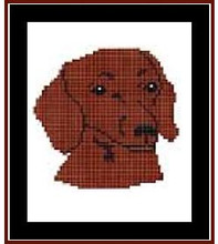 """Dachshund, Red Crochet Afghan Graph Pattern.  All done in single crochet, changing colors as you go along.  Drop one color, pull in the next.  Medium ability.  Size works up to be approx. 40 x 60"""".  Graph is 64 stitches wide by 104 stitches high.  Then you crochet 22 rows (or more) around the outside edge including a border.  Complete instructions are included, a full size graph, and a Helpful Hints page. DOWNLOAD will be emailed to you within the Order Confirmation.  Just click """"Download Files"""" and Enjoy!"""