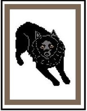"""Schipperke Crochet Afghan Graph Pattern.  All done in single crochet, changing colors as you go along.  Drop one color, pull in the next.  Medium ability.  Size works up to be approx. 40 x 60"""".  Graph is 72 stitches wide by 112 stitches high.  Then you crochet 22 rows (or more) around the outside edge including a border.  Complete instructions are included, a full size graph, and a Helpful Hints page. DOWNLOAD WILL BE SENT TO YOU IN A SEPARATE EMAIL.  Just click """"Download Files"""" and Enjoy!"""