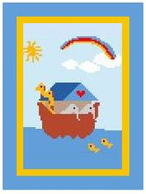 "Noah's Ark Crochet Afghan Graph Pattern.  All done in single crochet, changing colors as you go along.  Drop one color, pull in the next.  Medium ability.  Size works up to be approx. 40 x 60"".  Graph is 64 stitches wide by 104 stitches high.  Then you crochet 22 rows (or more) around the outside edge including a border.  Complete instructions are included, a full size graph, and a Helpful Hints page. DOWNLOAD WILL BE EMAILED TO YOU WITHIN 20 MINUTES OF ORDER.  JUST CLICK ""DOWNLOAD FILES"".  If you'd rather have it mailed to you, email me.  Enjoy!"