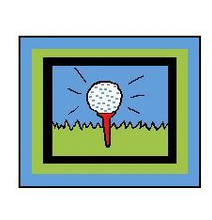 "Golf Ball and Tee Crochet Afghan Graph Pattern. LARGE.  All done in single crochet, changing colors as you go along.  Drop one color, pull in the next.  Medium ability.  Size works up to be approx. 60 x 80"".  Graph is 130 stitches wide by 170 stitches high.  Then you crochet 22 rows (or more) around the outside edge including a border, if needed  to make it larger.  Complete instructions are included, a full size graph, and a Helpful Hints page. Download will be emailed to you within 20 minutes of order.  OR, if you'd rather have it mailed, put a note in your order to that effect.  Enjoy!"