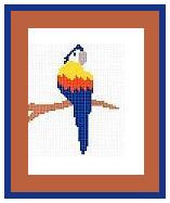 "Parrot Crochet Afghan Graph Pattern.  All done in single crochet, changing colors as you go along.  Drop one color, pull in the next.  Medium ability.  Size works up to be approx. 40 x 60"".  Graph is 64 stitches wide by 104 stitches high.  Then you crochet 22 rows (or more) around the outside edge including a border.  Complete instructions are included, a full size graph, and a Helpful Hints page. The DOWNLOAD will come to you in the Order Confirmation email within 20 minutes.  Just click ""Download Files"" and Enjoy!"