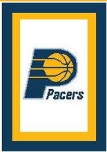 "Indiana Pacers Crochet Afghan Graph Pattern.  All done in single crochet, changing colors as you go along.  Drop one color, pull in the next.  Medium ability.  Size works up to be approx. 50 x 70"".  Graph is 100 stitches wide by 140 stitches high.  Then you crochet 22 rows (or more) around the outside edge including a border.  Complete instructions are included, a full size graph, and a Helpful Hints page. DOWNLOADABLE"