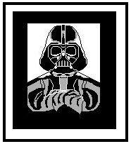 "Darth Vader #2 Crochet Afghan Graph Pattern.  All done in single crochet, changing colors as you go along.  Drop one color, pull in the next.  Medium ability.  Size works up to be approx. 50 x 70"".  Graph is 100 stitches wide by 140 stitches high.  Then you crochet 22 rows (or more) around the outside edge including a border.  Complete instructions are included, a full size graph, and a Helpful Hints page. DOWNLOAD WILL BE EMAILED TO YOU WITHIN 20 MINUTES OF ORDER.  JUST CLICK ""DOWNLOAD FILES"".  If you'd rather have it mailed to you, email me.  Enjoy!"