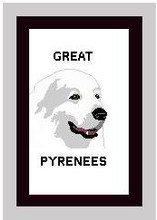 """Great Pyrenees Crochet Afghan Graph Pattern.  All done in single crochet, changing colors as you go along.  Drop one color, pull in the next.  Medium ability.  Size works up to be approx. 50 x 70"""".  Graph is 100 stitches wide by 140 stitches high.  Then you crochet 22 rows (or more) around the outside edge including a border.  Complete instructions are included, a full size graph, and a Helpful Hints page. DOWNLOAD will be emailed to you within the Order Confirmation.  Just click on """"Download Files"""" and Enjoy!"""