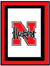 "Nebraska Cornhuskers Crochet Afghan Graph Pattern.  All done in single crochet, changing colors as you go along.  Drop one color, pull in the next.  Medium ability.  Size works up to be approx. 50 x 70"".  Graph is 100 stitches wide by 140 stitches high.  Then you crochet 22 rows (or more) around the outside edge including a border.  Complete instructions are included, a full size graph, and a Helpful Hints page. DOWNLOADABLE"