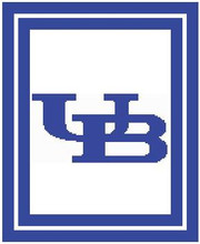 """University of Buffalo Logo Crochet Graph Afghan Pattern.  All done in single crochet, changing colors as you go along.  Drop one color, pull in the next.  Medium ability.  Size works up to be approx. 50 x 70"""".  Graph is 120 stitches wide by 160 stitches high.  Then you crochet 22 rows (or more) around the outside edge including a border, if you would like it larger.  Complete instructions are included, a full size graph, and a Helpful Hints page. Download will be emailed to you within 20 minutes in your Confirmation.  Just click """"Download Files"""".  If you'd rather have it mailed to you, email Janet.  Enjoy!"""