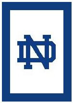 "Notre Dame Logo Crochet Graph Afghan Pattern.  All done in single crochet, changing colors as you go along.  Drop one color, pull in the next.  Medium ability.  Size works up to be approx. 50 x 70"".  Graph is 100 stitches wide by 140 stitches high.  Then you crochet 22 rows (or more) around the outside edge including a border, if you would like it larger.  Complete instructions are included, a full size graph, and a Helpful Hints page. DOWNLOAD WILL BE SENT TO YOU WITH YOUR CONFIRMATION WITHIN 20 MINUTES.  JUST CLICK ON ""DOWNLOAD FILES"".  Or email me if you'd rather have it mailed. Enjoy!"