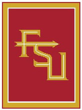"""FSU Florida State University Crochet Afghan Graph Pattern.  All done in single crochet, changing colors as you go along.  Drop one color, pull in the next.  Medium ability.  Size works up to be approx. 50 x 70"""".  Graph is 100 stitches wide by 140 stitches high.  Then you crochet 22 rows (or more) around the outside edge including a border.  Complete instructions are included, a full size graph, and a Helpful Hints page. You will receive the download in 20 minutes or sooner, within your Order Confirmation.  Just click """"Download Files"""" and Enjoy!"""