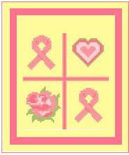 """Breast Cancer Ribbon Crochet Afghan Graph Pattern.  All done in single crochet, changing colors as you go along.  Drop one color, pull in the next.  Medium ability.  Size works up to be approx. 40 x 60"""".  Graph is 64 stitches wide by 104 stitches high.  Then you crochet 22 rows (or more) around the outside edge including a border.  Complete instructions are included, a full size graph, and a Helpful Hints page. YOUR ORDER CONFIRMATION WILL BE EMAILED TO YOU WITH CLICKABLE PATTERN DOWNLOAD. JUST CLICK """"DOWNLOAD FILES"""" AND ENJOY!"""