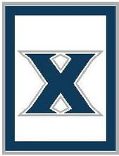"Xavier University Logo Crochet Graph Afghan Pattern.  All done in single crochet, changing colors as you go along.  Drop one color, pull in the next.  Medium ability.  Size works up to be approx. 60 x 80"".  Graph is 140 stitches wide by 180 stitches high.  Then you crochet 22 rows (or more) around the outside edge including a border, if you would like it larger.  Complete instructions are included, a full size graph, and a Helpful Hints page. DOWNLOAD WILL BE SENT TO YOU WITHIN YOUR ORDER CONFIRMATION (IN 20 MINUTES).  Just click on ""Download Files"" to print in full color. Enjoy!"