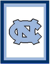 """North Carolina NC Logo Crochet Graph Afghan Pattern.  All done in single crochet, changing colors as you go along.  Drop one color, pull in the next.  Medium ability.  Size works up to be approx. 50 x 70"""".  Graph is 100 stitches wide by 140 stitches high.  Then you crochet 22 rows (or more) around the outside edge including a border, if you would like it larger.  Complete instructions are included, a full size graph, and a Helpful Hints page. YOUR ORDER CONFIRMATION WILL CONTAIN THE CLICKABLE PATTERN DOWNLOAD. ENJOY!"""
