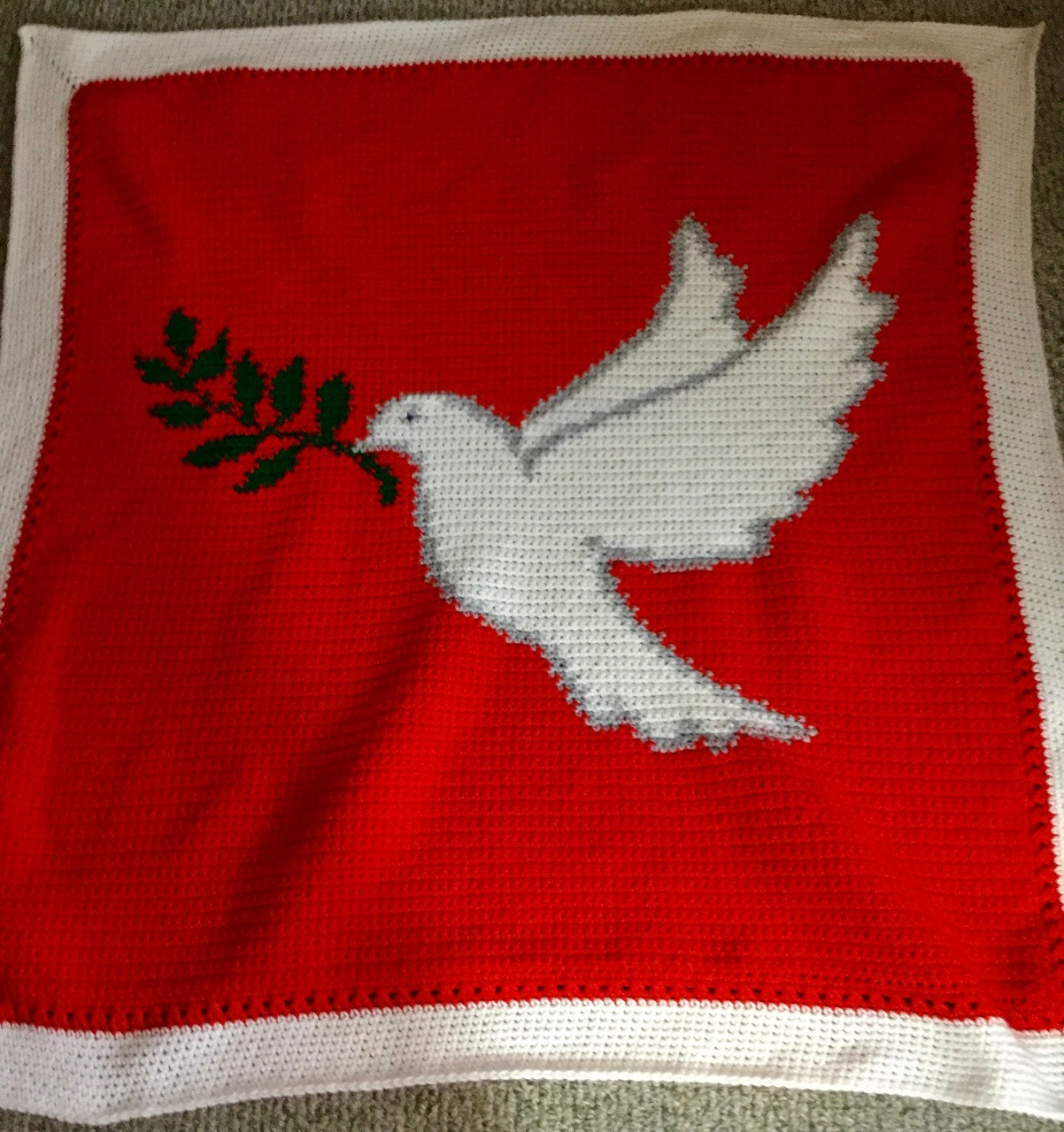 Dove with Sprig (Peace)Crochet Afghan Pattern DOWNLOADABLE