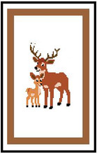 """Deer/Buck and Baby Crochet Afghan Graph Pattern.  All done in single crochet, changing colors as you go along.  Drop one color, pull in the next.  Medium ability.  Size works up to be approx. 40 x 60"""".  Graph is 64 stitches wide by 104 stitches high.  Then you crochet 22 rows (or more) around the outside edge including a border.  Complete instructions are included, a full size graph, and a Helpful Hints page. DOWNLOAD WILL BE EMAILED TO YOU WITHIN 20 MINUTES OF PLACING ORDER.  Just click """"Download Files"""" on your Order Confirmation.   Enjoy!"""
