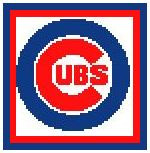 """Chicago Cubs Logo Crochet PILLOW Pattern.  All done in single crochet, changing colors as you go along.  Drop one color, pull in the next.  Medium ability.  Size works up to be approx.18X18"""".  Graph is 60 stitches wide by 60 stitches high.  Then you crochet a border around the outside edge; and crochet a solid back OR cut a square of Polar Fleece for backside.  Complete instructions are included, a full size graph, and a Helpful Hints page (3 pages). DOWNLOADABLE WITH ORDER CONFIRMATION. Just click """"Download Files"""" and Enjoy!"""