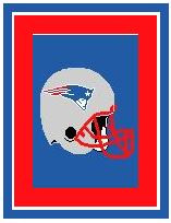"New England Patriots Helmet Crochet Graph Afghan Pattern.  All done in single crochet, changing colors as you go along.  Drop one color, pull in the next.  Medium ability.  Size works up to be approx. 50 x 70"".  Graph is 116 stitches wide by 156 stitches high.  Then you crochet 22 rows around the outside edge including a border, if you would like it larger.  Complete instructions are included, a full size graph, and a Helpful Hints page. DOWNLOAD WILL BE EMAILED TO YOU WITHIN 20 MINUTES. Just click ""Download Files"" and download 3 pages and ENJOY!"