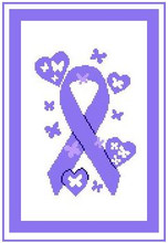 """Pancreatic Cancer Ribbon Crochet Afghan Pattern. Medium ability.  Size works up to be approx. 50 x 70"""".  Graph is 100 stitches wide by 140 stitches high.  Then you crochet 22 rows (or more) around the outside edge including a border.  Complete instructions are included, a full size graph, and a Helpful Hints page. Just Click Download Files on your Order Confirmation to get your pattern pages (3)"""